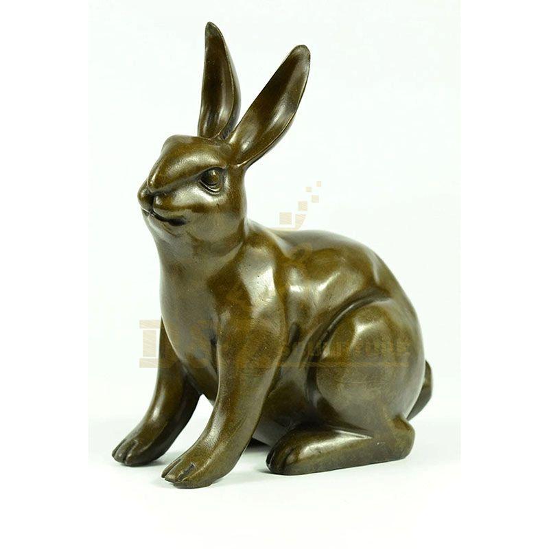 High Quality Home Decor Life Size Bronze Sculpture Brass Rabbit Statue