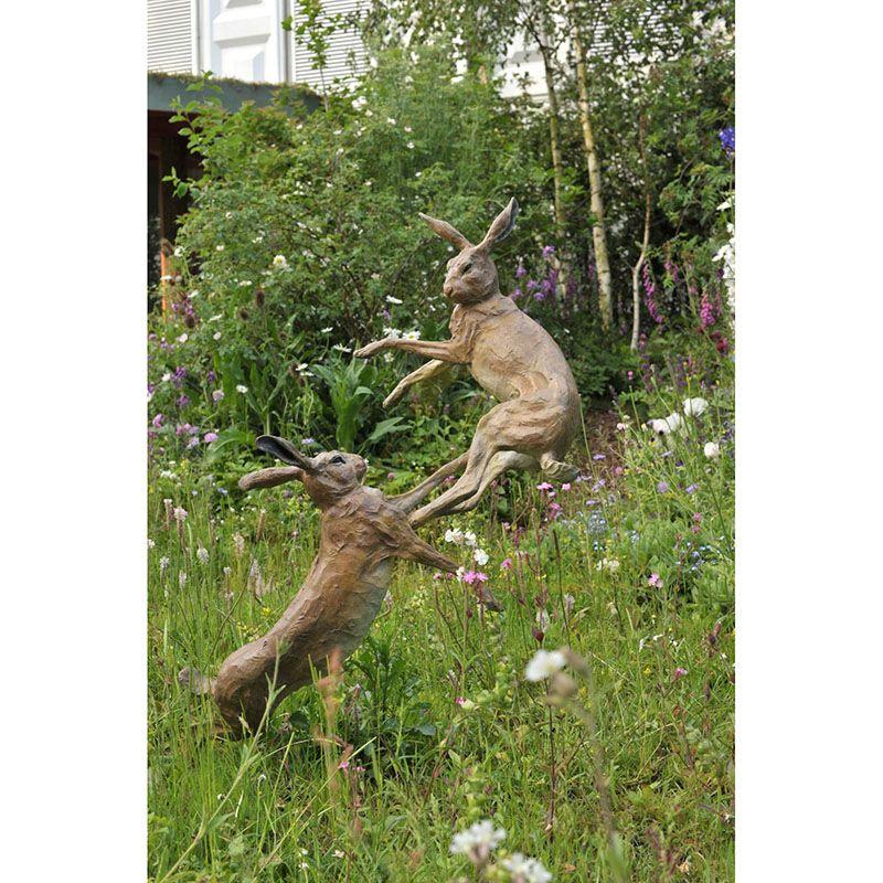 Popular Design Animal Statue Life Size Rabbit Bronze Sculpture