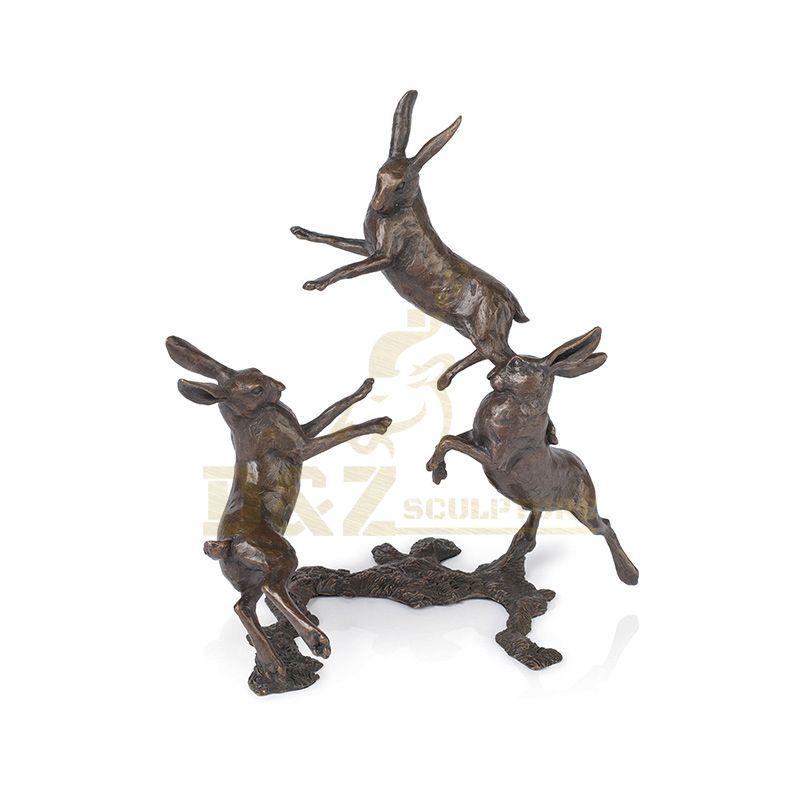 Factory Price Modern Outdoor Metal Bronze Rabbit Statue
