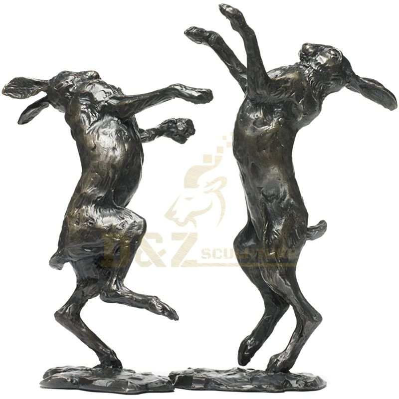 Garden Decorative Garden Decoration Animal Rabbit Bronze Sculpture
