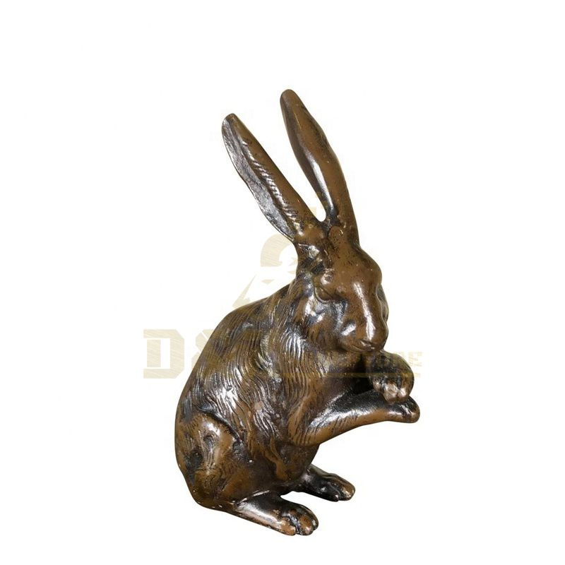 Garden Decor Antique Bronze Rabbit Statues