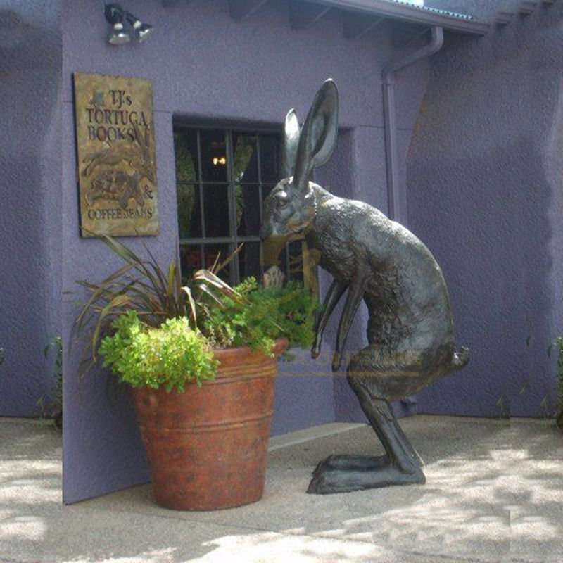 Modern City Decoration Outdoor Bronze Rabbit Garden Statue Animal Sculpture