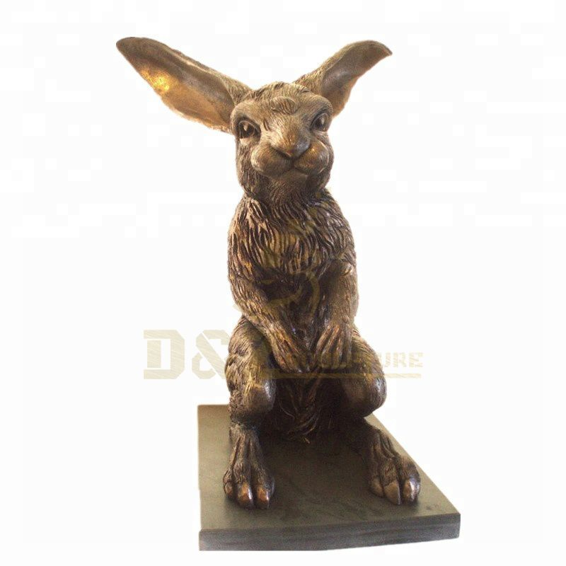 Casting Metal Bronze Animal Rabbit Sculpture