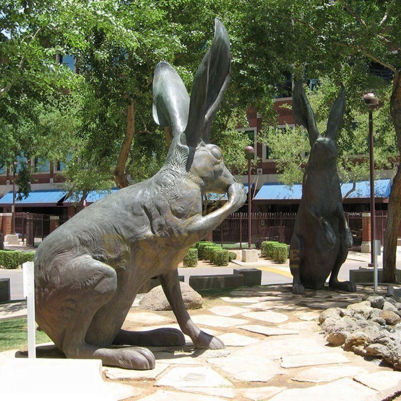 Large Outdoor Metal Casting Rabbit Bronze Sculpture