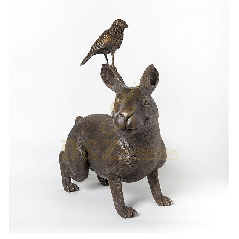 Large Outdoor Metal Casting Rabbit Bronze Sculpture For Garden Decoration