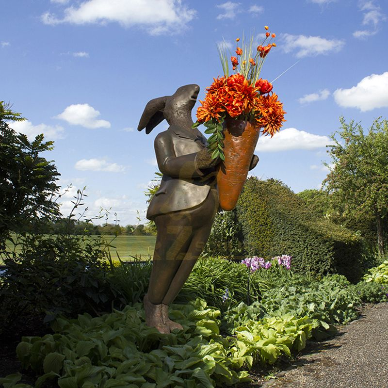 Outdoor Garden Decoration Bronze Rabbit Sculpture