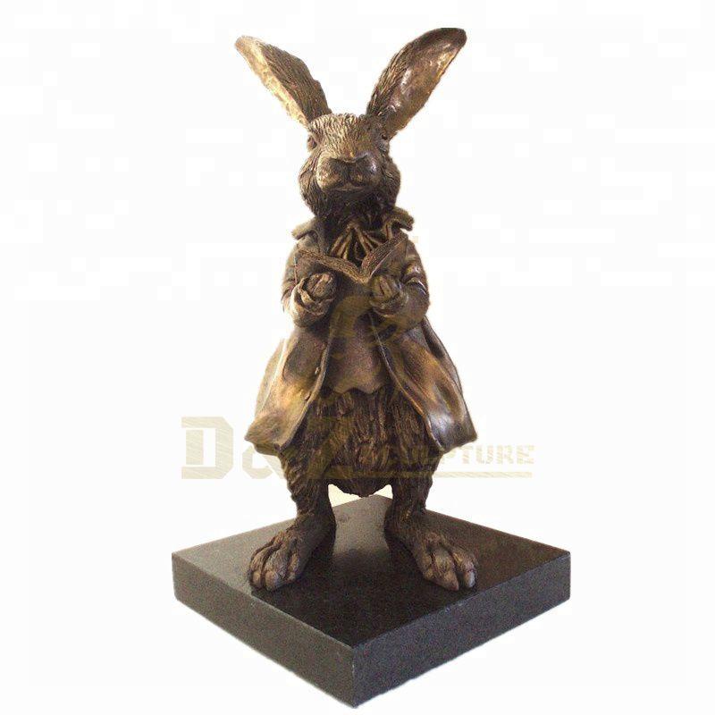 Popular Design Bronze Animals Bronze Rabbit Sculpture