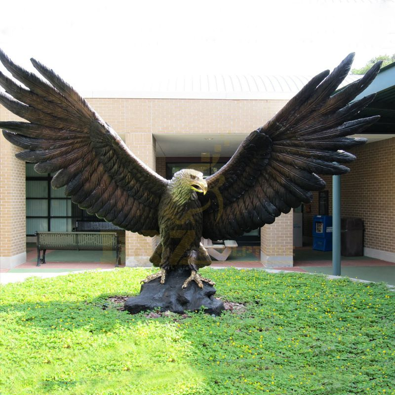 Large Outdoor Bronze Abstract Eagle Sculpture