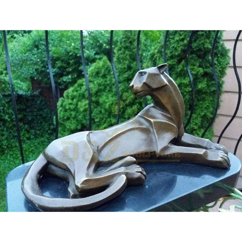 Hot Sale Sitting Customized Bronze Leopard Statue