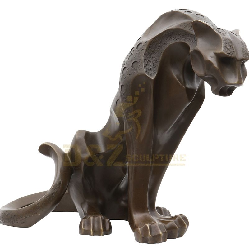 Indoor Decoration Bronze Leopard Statue For Sale