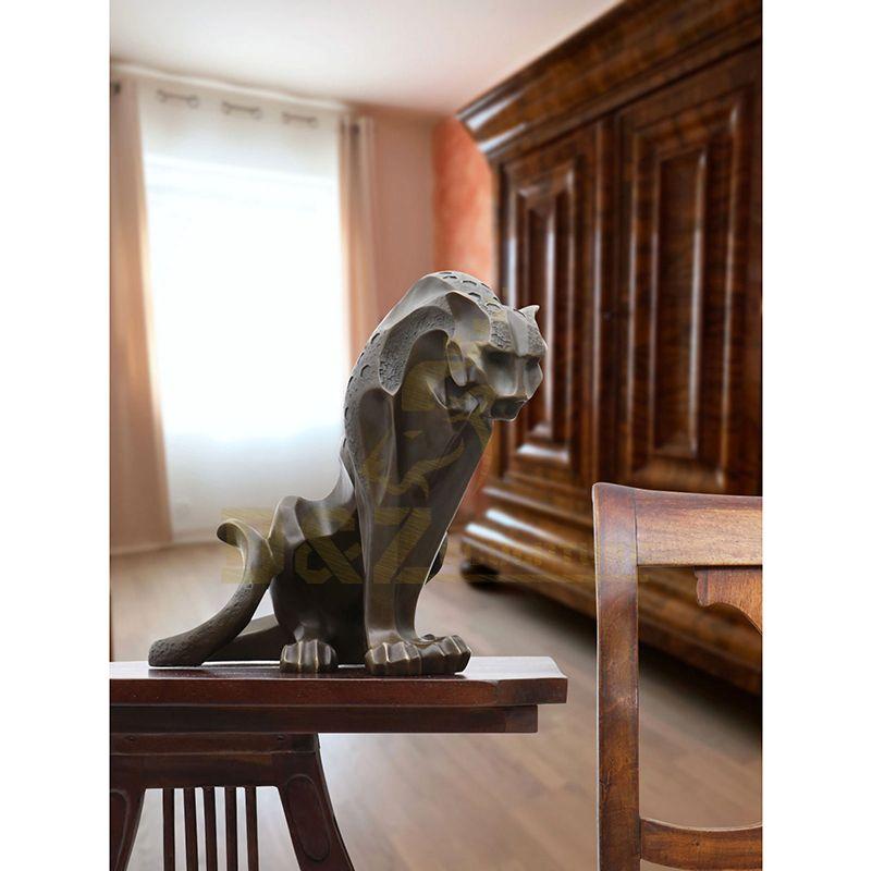 Indoor Home Decoration Bronze Leopard Sculpture