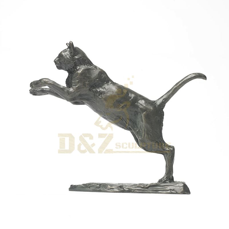 Custom Cast Brass Panther Statue Bronze Leopard Sculpture