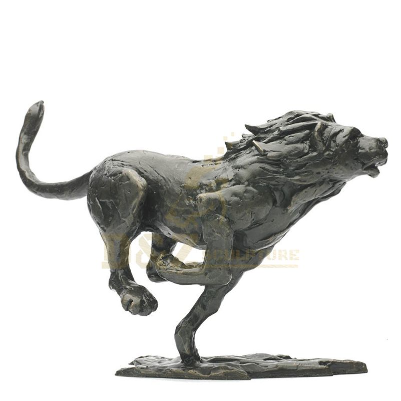 Animal Bronze Leopard Statue For Garden Decoration