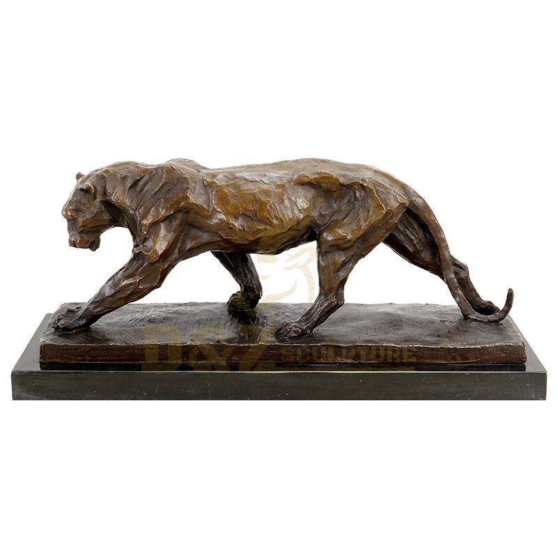 Outdoor Decoration Life Size Brass Panther Statue