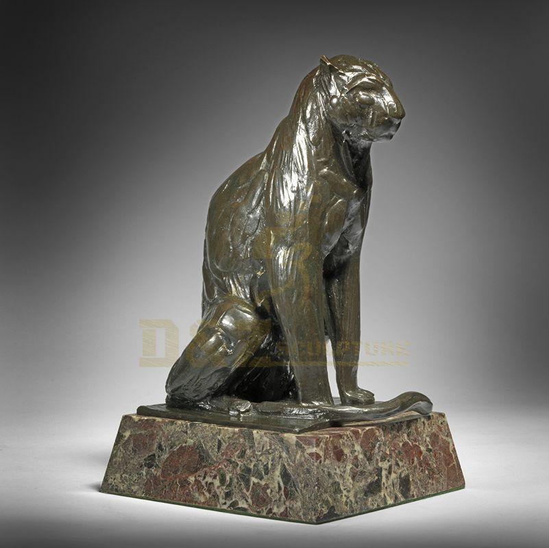 Garden Brass Animal Metal Panther Sculpture