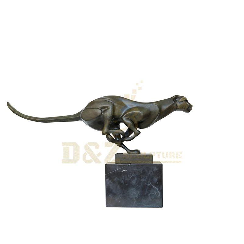 Garden Decoration Casting Bronze Leopard Statue
