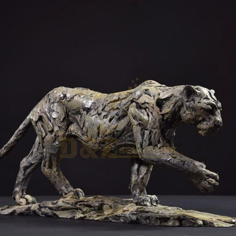 Hot Popular Bronze Leopard Statue Full Size For Sale