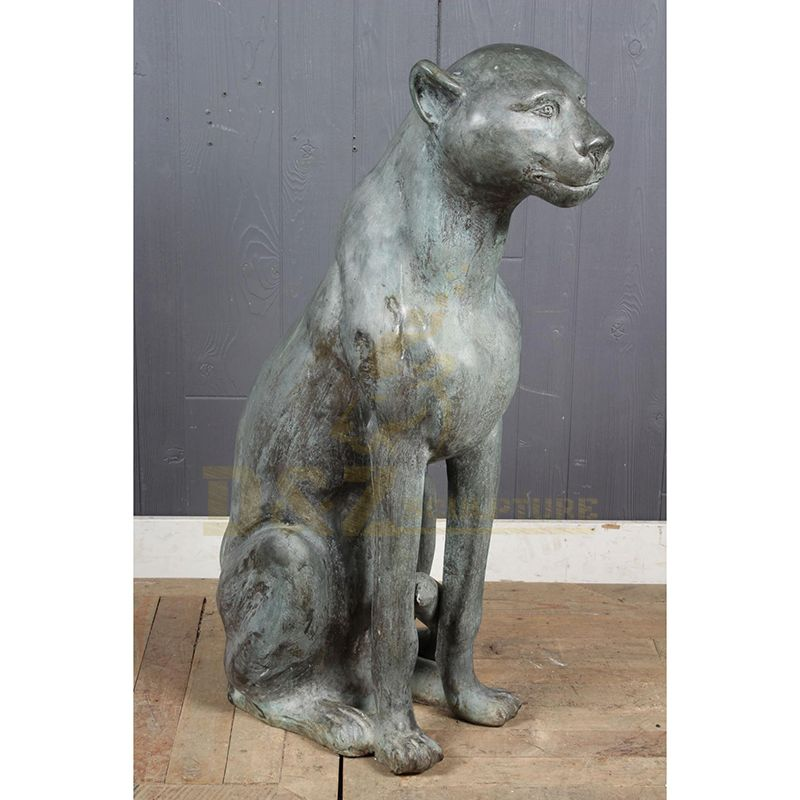 Outdoor Decoration Bronze Leopard Sculpture For Sale