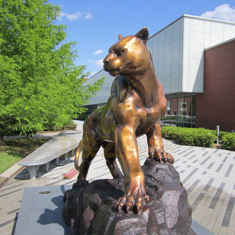 Best Sale Leopard Bronze Brass Sculpture Home Decoration Animal Statue