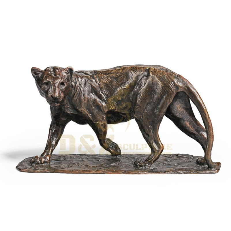Outdoor Metal Panther Large Bronze Leopard Sculptures