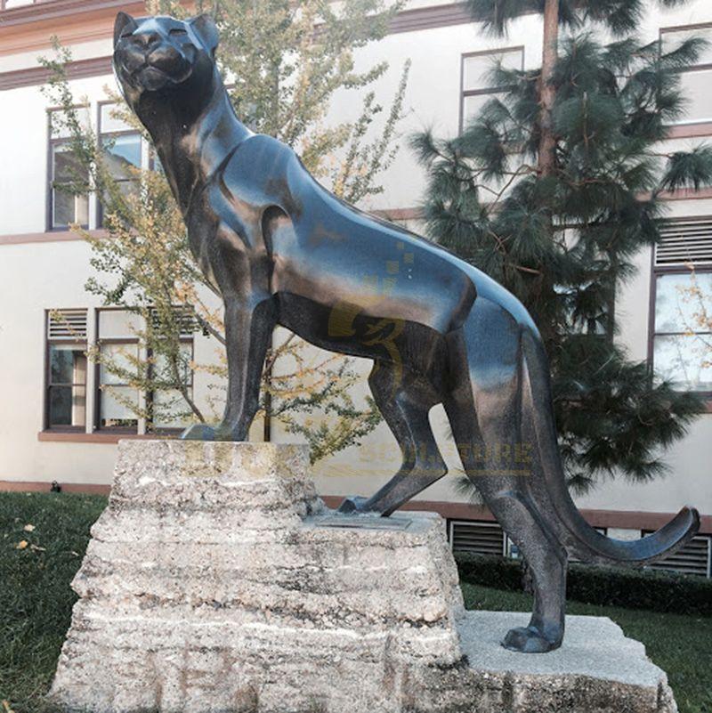 Home Decoration Metal Material Bronze Leopard Sculpture