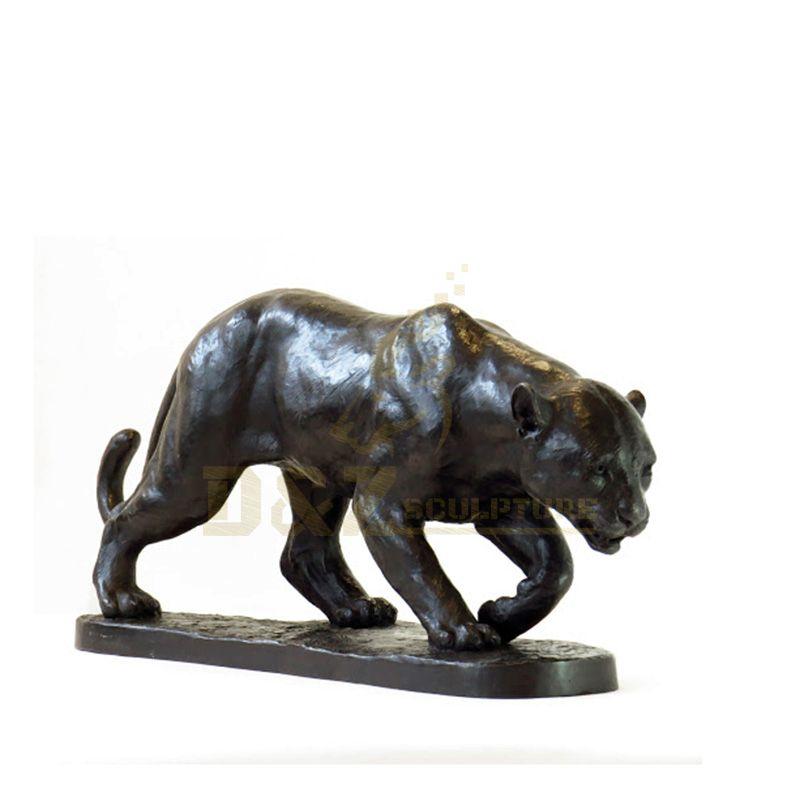 Animal Metal Garden Art Life Size Bronze Walking Leopard sculpture For Sale