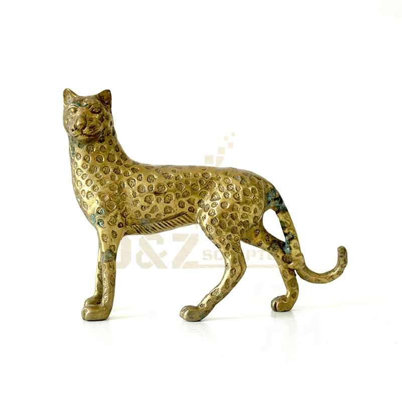 Modern Animal Bronze Leopard Sculpture