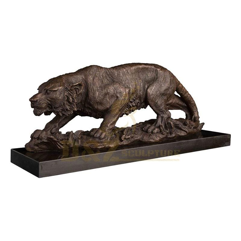 Custom made outdoor decoration bronze tiger animal statues