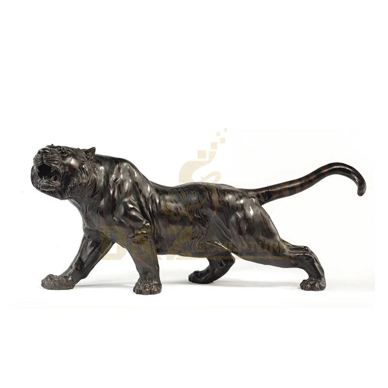 Zoo Animal Wild Decorations Statues All Kinds Of Size Bronze Tiger Sculpture