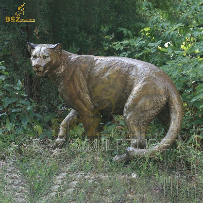 Factory Outdoor Home Garden Animal life size Bronze Tiger Statue