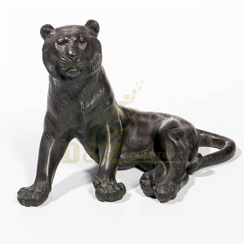 Best Quality Bronze Life Size Garden Tiger Statue