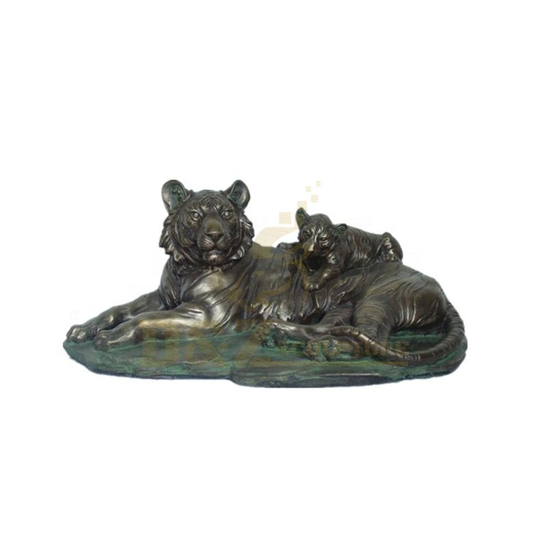 Large Outdoor Decoration Bronze Garden Tiger Statues