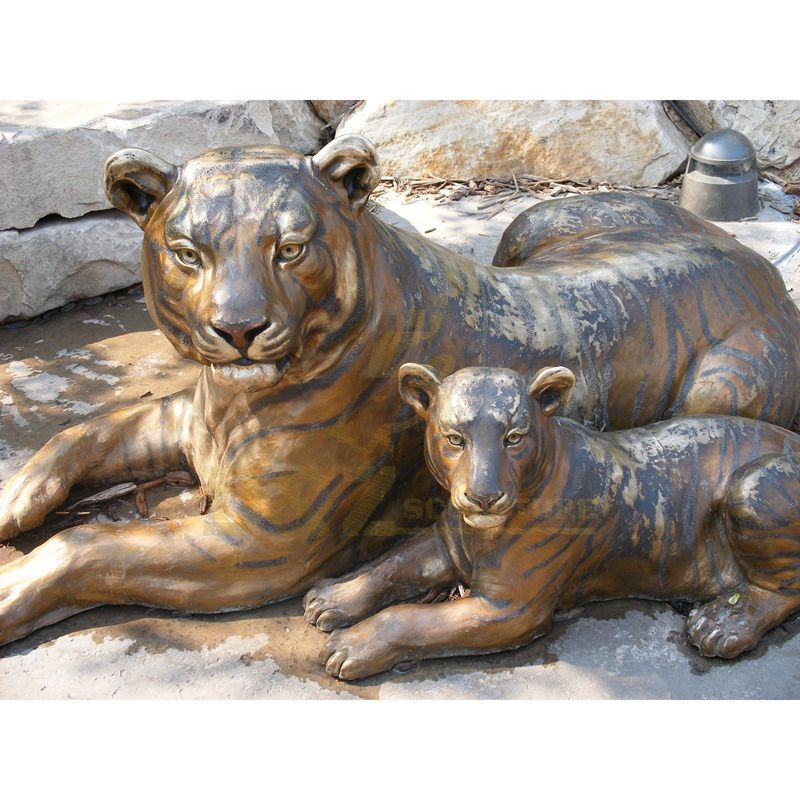 Life Size Cast Bronze Big Tiger Statue