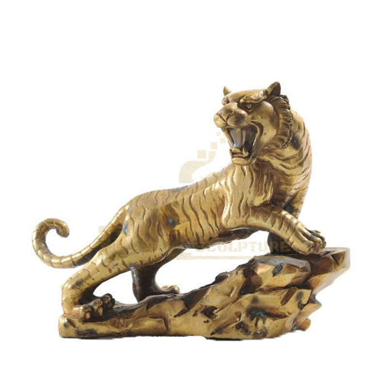Bronze Animal Tiger Statue For Indoor Decoration