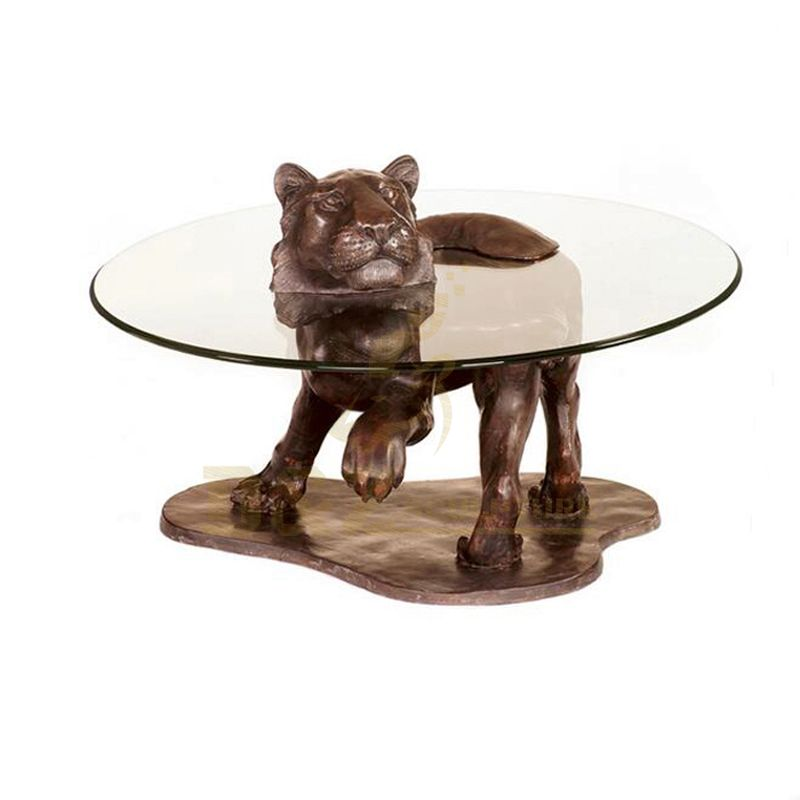Handmade best quality home decoration table bronze tiger statue
