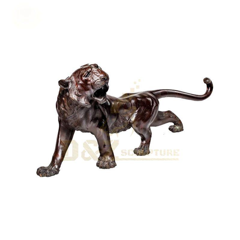 Garden Brass Animal Sculpture Bronze Tiger Statue for Sale