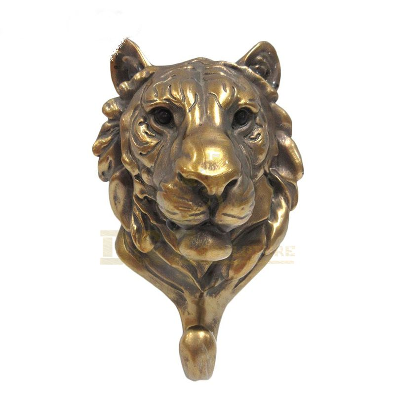 Life size metal cooper brass bronze tiger head statue for sale