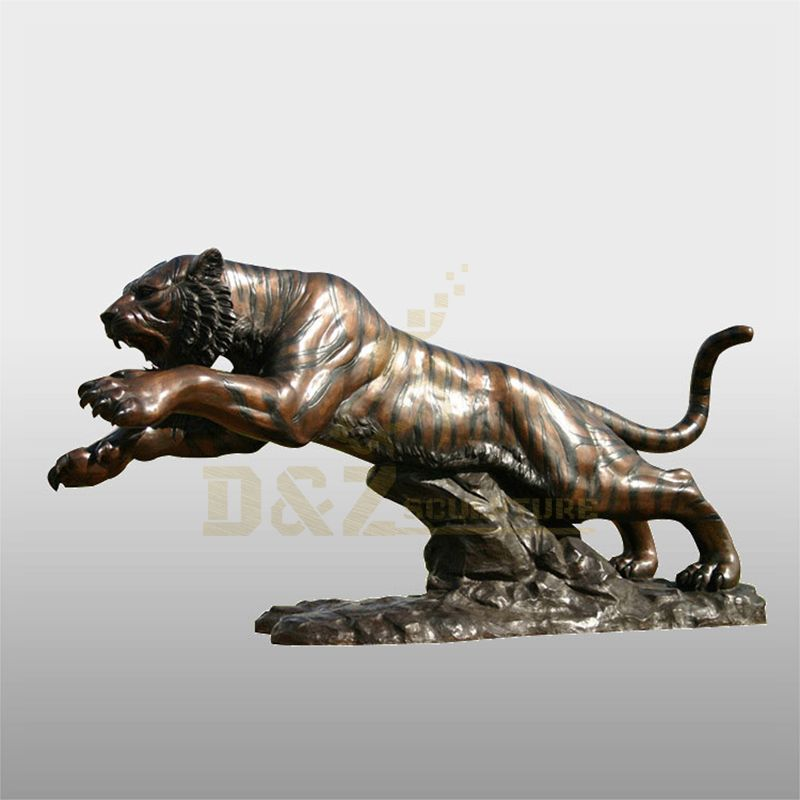 Outdoor Garden Life Size Bronze Tiger Statue