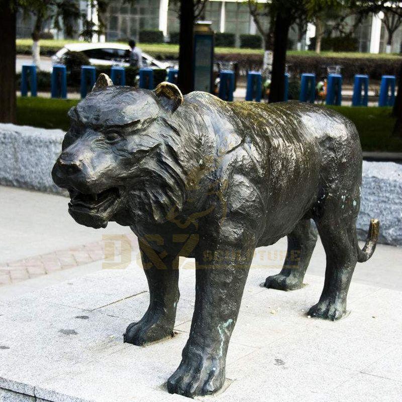 Handmade Bronze Brass Tiger Statues