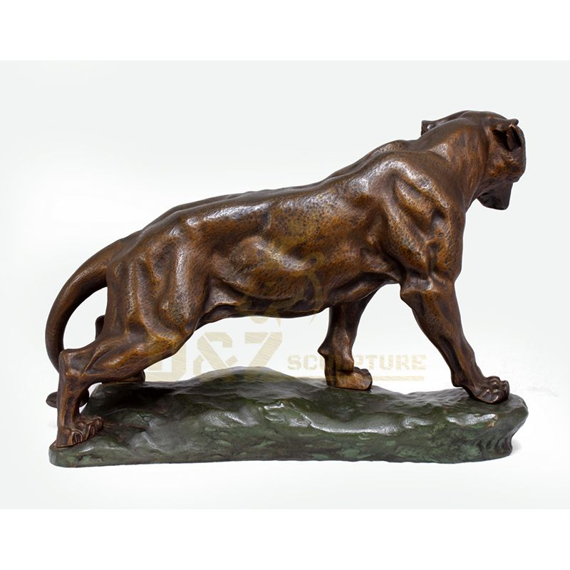 Chinese antique bronze tiger statue