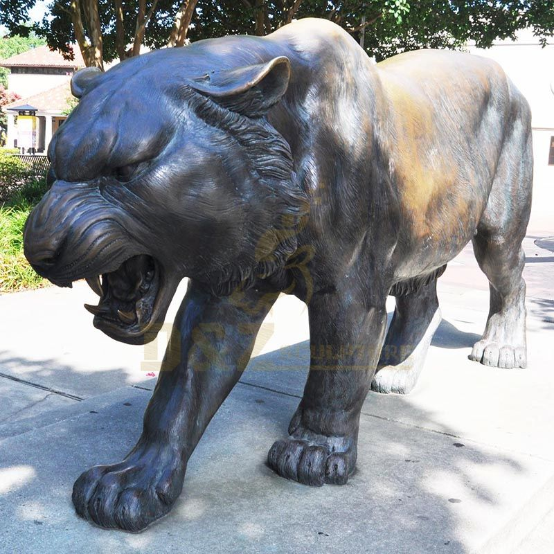 Life Size Outdoor Park Bronze Tiger Statue for Sale