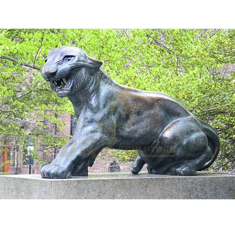 Large outdoor garden bronze brass tiger sculpture