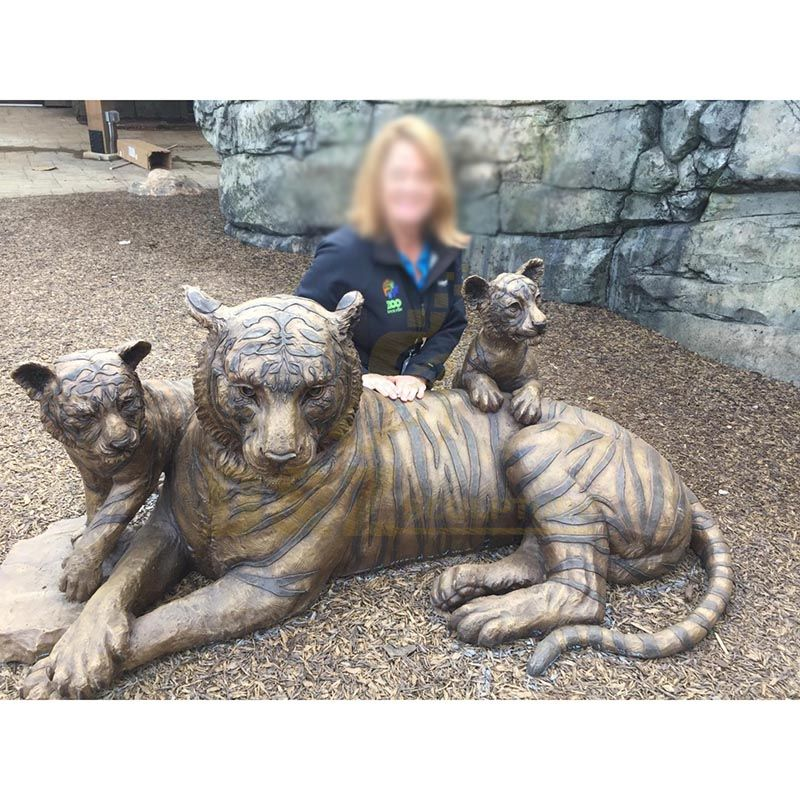 Life size bronze tiger statue for sale