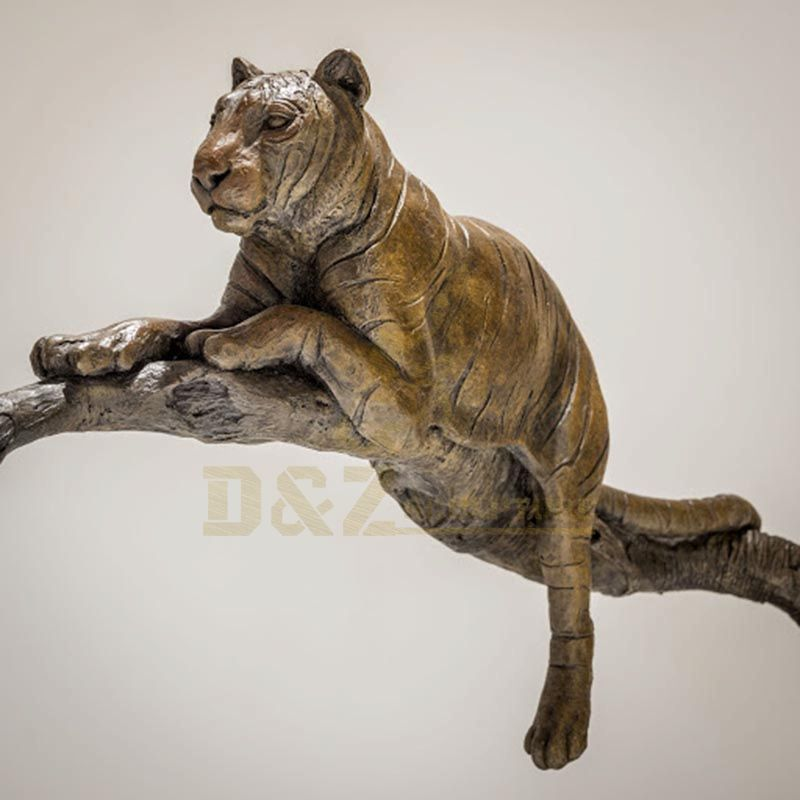 Handmade brass large outdoor decor bronze tiger statue