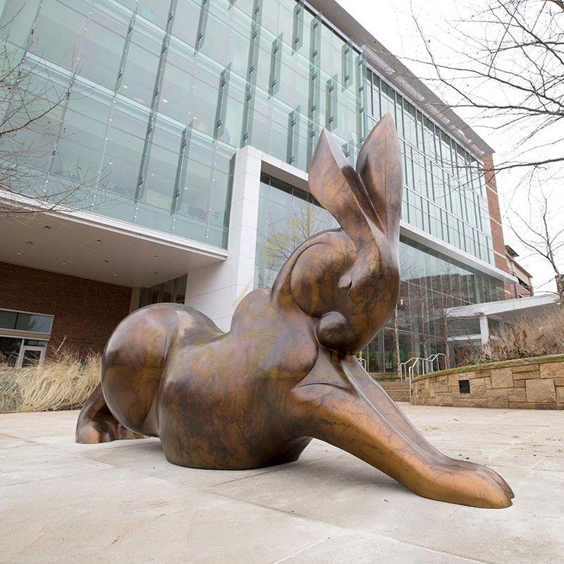Large Size Outdoor Garden Rabbit Bronze Sculpture