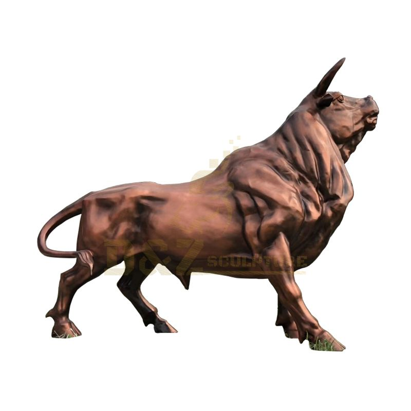 Customized Service for All Size and Designs Outdoor Decoration Large Bronze Bull Statue