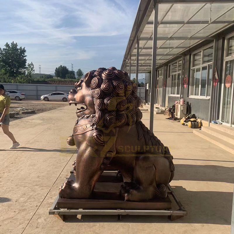 Hot Sale Chinese Bronze Foo Dog Statue Sculpture