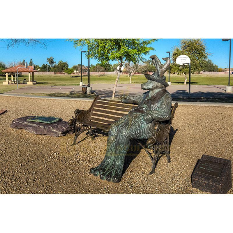Modern Abstract Life Size Goat Bronze Sculpture