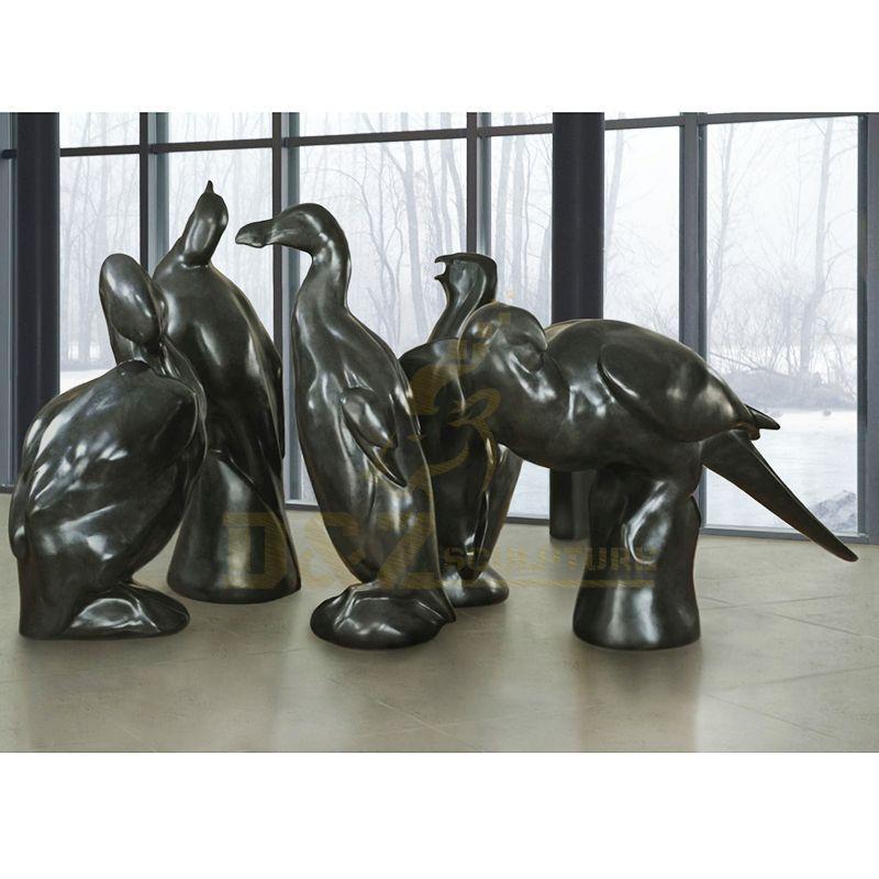 Antique Garden Decoration Metal Animal Bird Brass Bronze Sculpture
