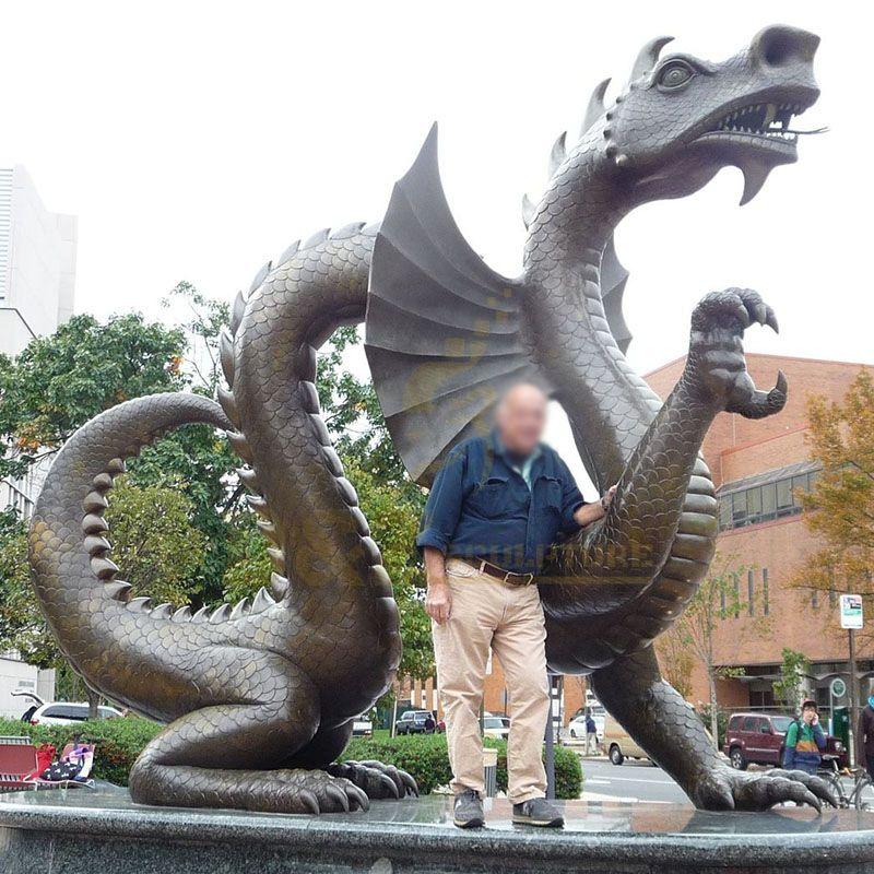 Large Outdoor Modern Metal Bronze Dragon Sculptures